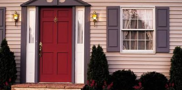 A red door brings good fortune to a home, according to feng shui principles.