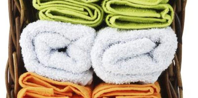 Check the label of a towel and verify that it is 100 percent cotton before making your purchase.