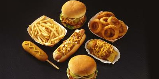 Fast food contributes to many families' consumption of junk food.
