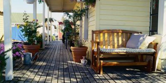 Protect your deck fully by staining in the cracks.