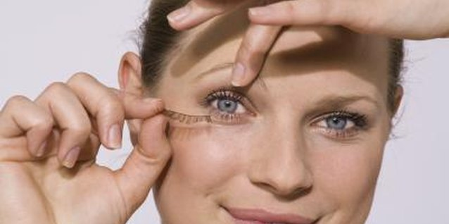 Wearing false eyelashes lengthens your natural lashes.