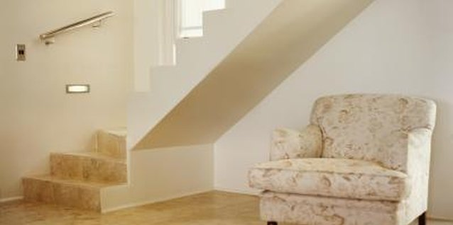 Stairwells create triangular pockets of space for extra storage when enclosed.