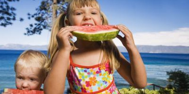 Sweet and juicy watermelon contains nutrients toddlers need to grow.