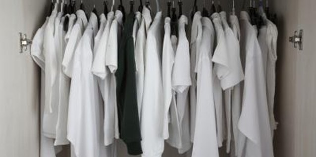 Overuse of chlorine bleach often causes permanent yellowing of white garments.