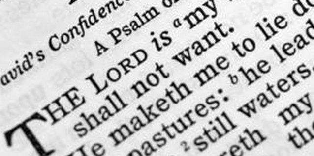 Psalm 23 is in the Old Testament.