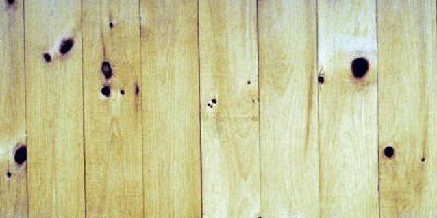 Knotty pine paneling can be easy to strip, if you use the right materials.