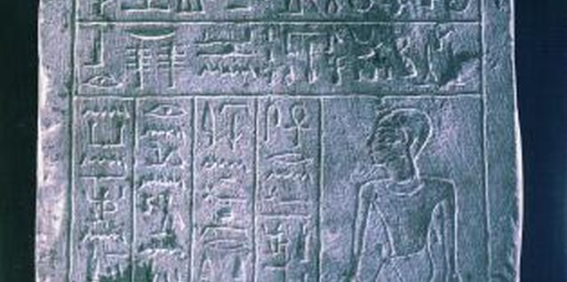 Ancient Egyptians began developing their written language about 5,000 years ago.