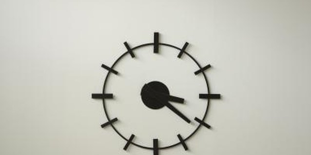 Stencil a clock onto your wall.