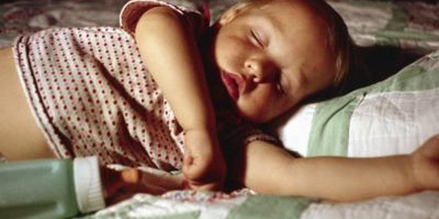 Sleeping with a bottle promotes tooth decay.