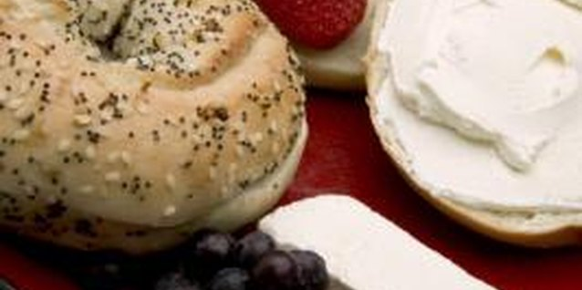 Pair bagels with fresh fruit for a filling breakfast.