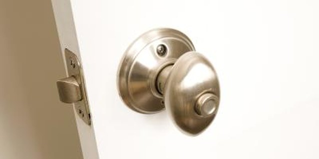Push-button locks are usually found on interior doors. & How to Fix a Push-Button Doorknob