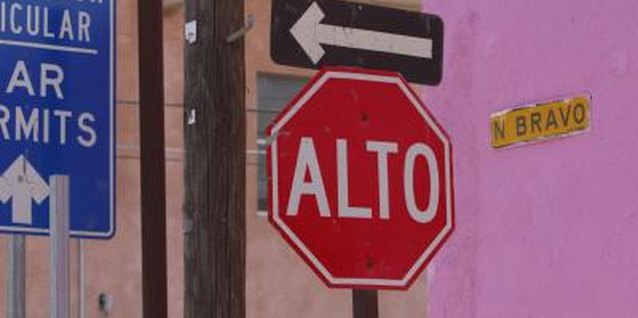 Once he recognizes the stop sign, he can understand it in any language.