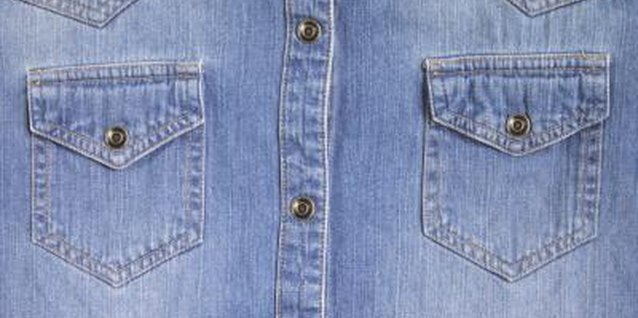 Lighten a denim shirt by soaking it in bleach water.