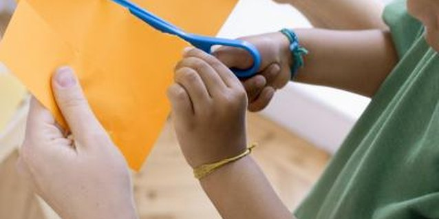 Use child safety scissors to help prevent injury.