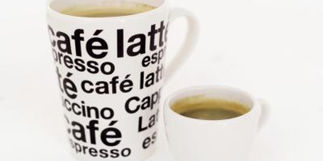 The flavor of espresso is more concentrated than that of coffee.