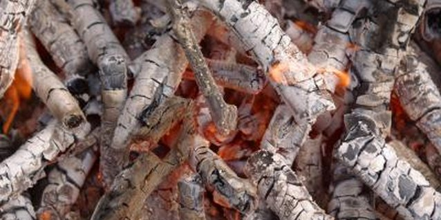 Only use ash from wood charcoal fires, as manufactured briquettes contain toxins.