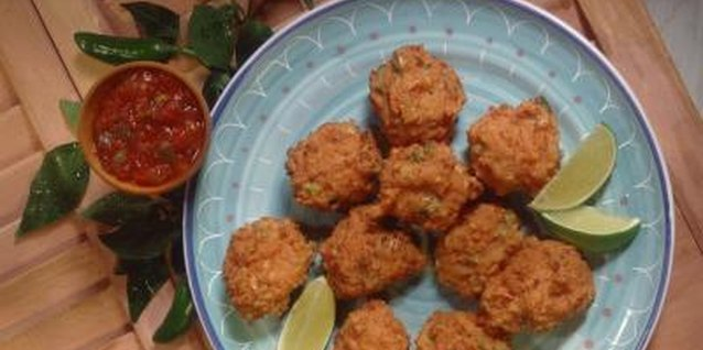 Bhajia, sometimes called bhajis, are simply fried vegetable fritters.