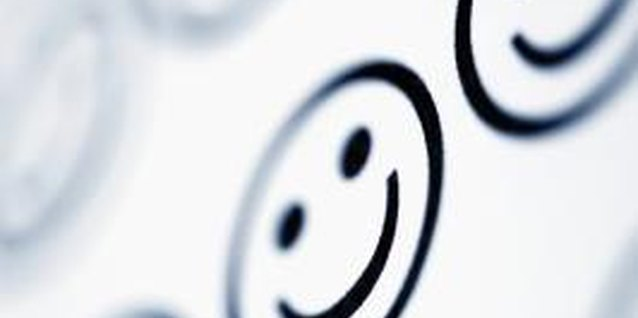 Smiley faces are only one of hundreds of emoticons teens use on Facebook.