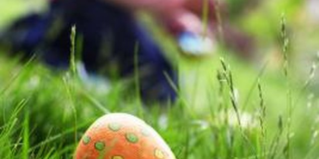 Have your munchkins search for decorated eggs around Easter time.