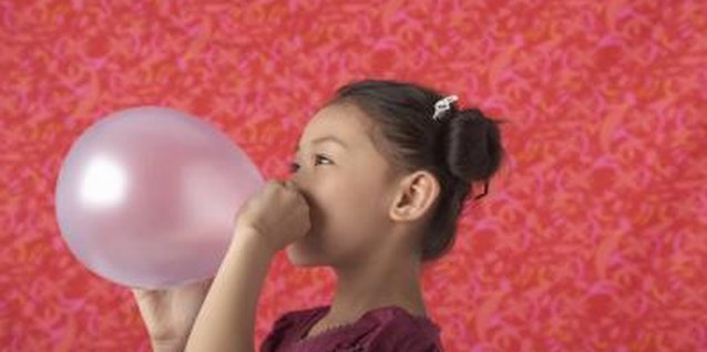 Show your child how her breath can turn a balloon into a rocket.