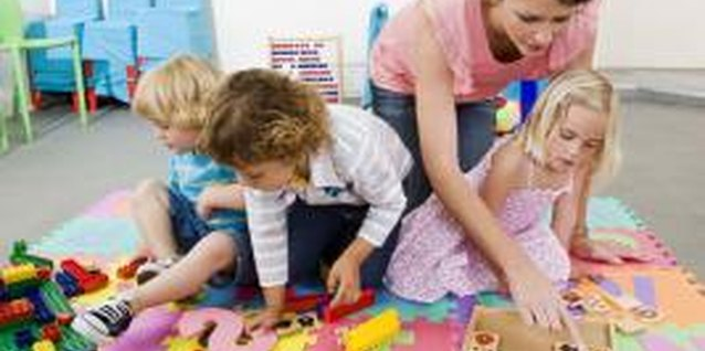 Preschoolers need guidance when learning to work together.