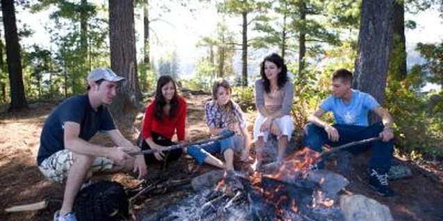 A camping-themed party lets teens relax and celebrate.