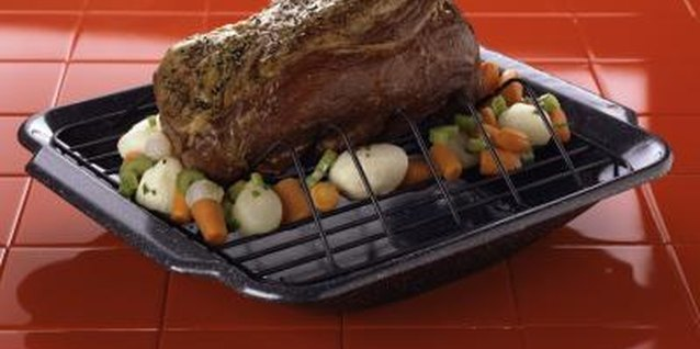Deep roasting pans and wire racks are perfect for cooking tender roasts.