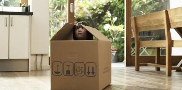 A cardboard box can transport your youngster to an imaginary world.