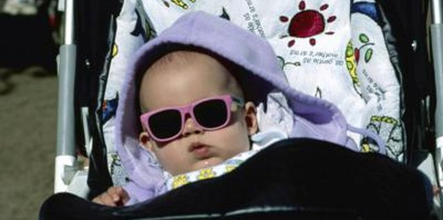 Sunglasses can help protect your baby's eyes in hot climates.