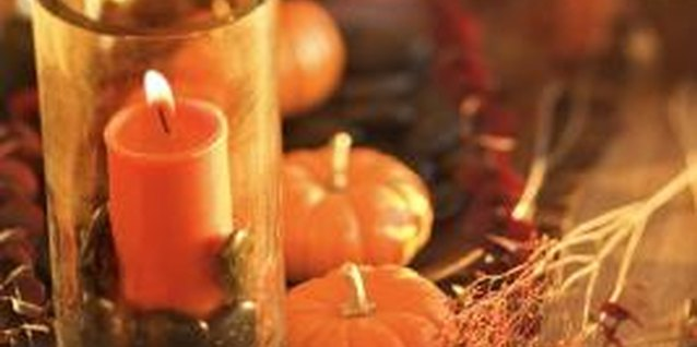 Dress up your tables for fall with a candle display.