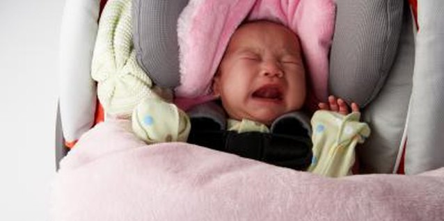 Car seat crying means an uncomfortable child.