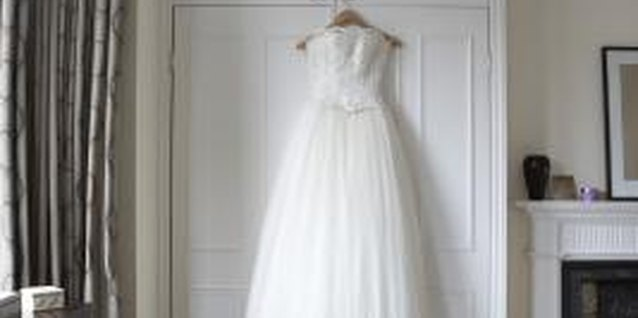 Steaming a Chiffon Wedding Dress