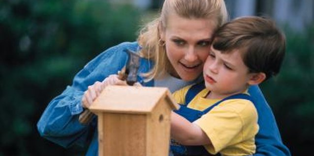 Decorate a bird house together and watch the birds flock to the new feeder.
