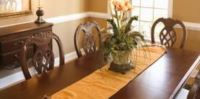 Wall color changes the character of a dining room.