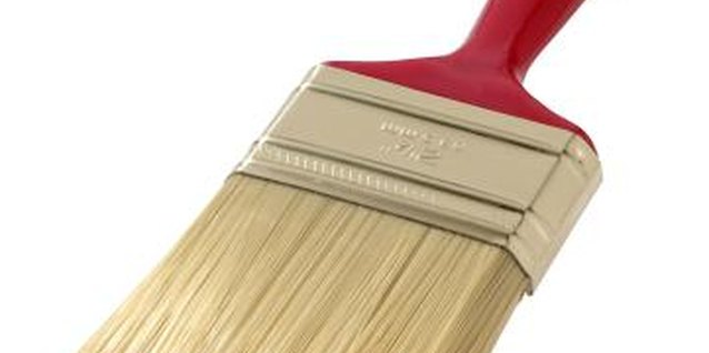 You'll get the best latex paint results with new, synthetic-bristle brushes.