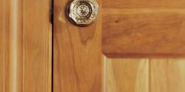 A properly finished oak door shows off the wood's natural grain and texture.