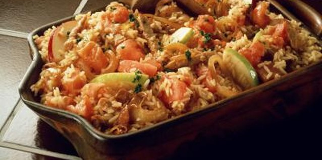 Make rice more interesting by baking it with other ingredients.