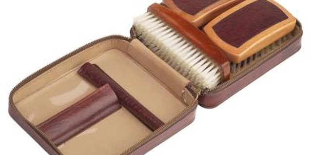 Keep a shoe shine handy in your shoe organizer or closet.
