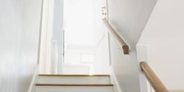 Stenciling a detailed pattern on your stair treads and/or risers can instantly dress up a plain staircase.