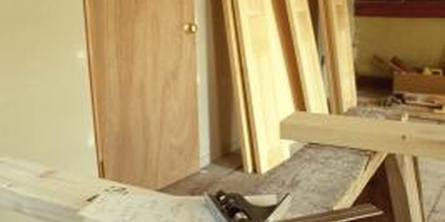 How to Seal a Large Gap Between a Door Frame & Studs