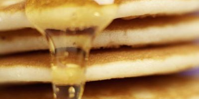 Fluffy, golden brown pancakes are a tasty start to the day.