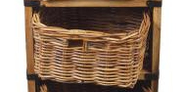 Use baskets for storage rather than large pieces of furniture.