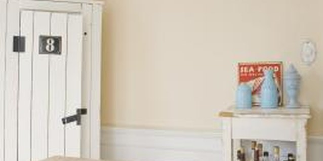 Change the look of your room with painted wainscoting.