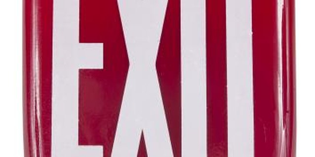 "Use opportunities to point out ""Exit"" signs to your special needs child."