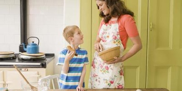 Baking is a perfect time to teach your preschooler about sequencing.