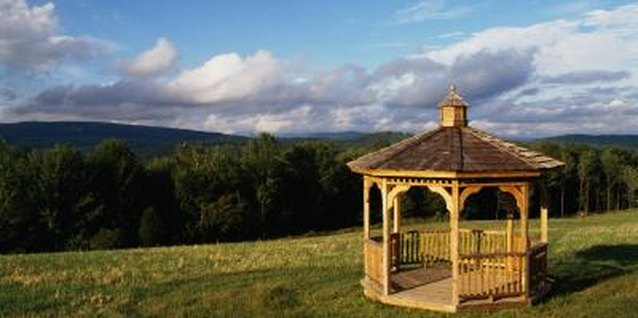 Gazebos provide a sheltered space to gaze out over the landscape.