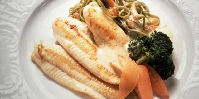 Tilapia is low in fat and high in protein.