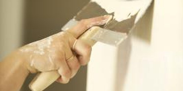 Plaster walls can be textured in a variety of ways.