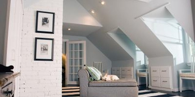 Blend in walls by painting the ceiling the same color.