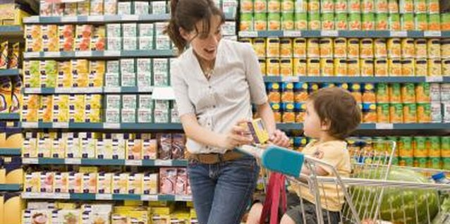 Grocery shopping provides an opportunity to stimulate your child's speech.